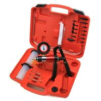 Automotive Hand Held Pump Case Tester Vacuum Brake Bleeder Kit Portable W 2 Jar on sale