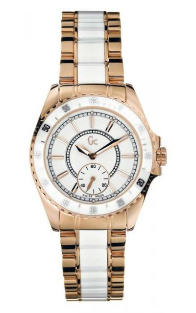 Guess Gc Sport Class Lady Watch 47003L1 Analog Stainless Steel Rosé, White