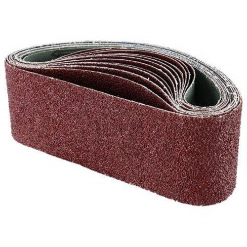 """12pcs Grinding Sanding Belts 40//80//120 Grit Aluminum Oxide 3/""""x21/"""" Replaces Parts"""