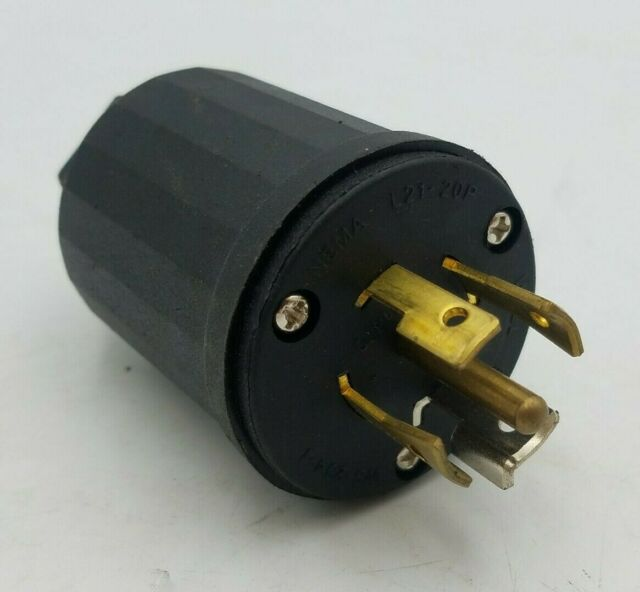 Well Shin WS-129-1 Twist Lock Plug NEMA L14-20P  20A-125//250V 3P 4W E161470