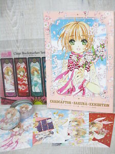 CARDCAPTOR-SAKURA-EXHIBITION-CLAMP-Art-Book-w-Postcard-Bookmark-Memopad-2018-Ltd