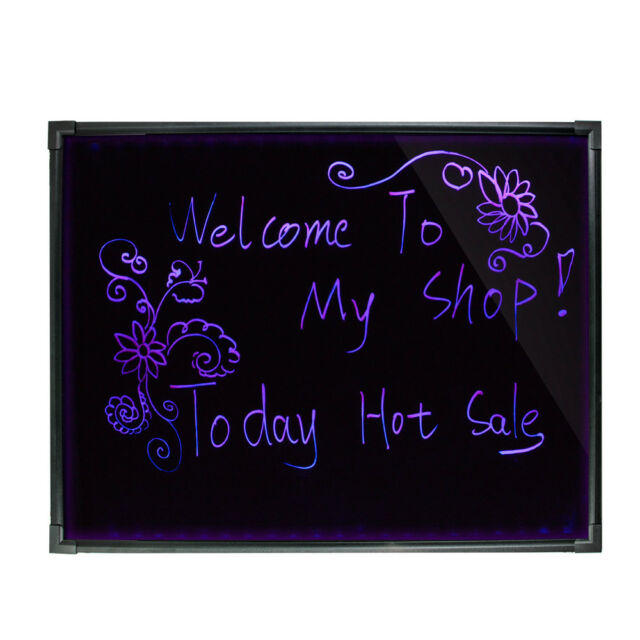 32x24inch DIY LED Flashing Illuminated Neon Message Menu Writing Sign Board  US