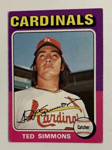 1975 Ted Simmons # 75 Topps Baseball Card St. Louis Cardinals HOF