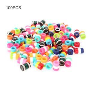 100er-Beads-Perlen-Haarperlen-Clips-Haargummi-Rastas-Zoepfe-Flechten-Cornrow