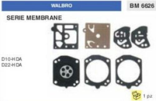 KIT SERIE MEMBRANE membrana CARBURATORE WALBRO D10-HDA D22-HDA D 10 22 HDA