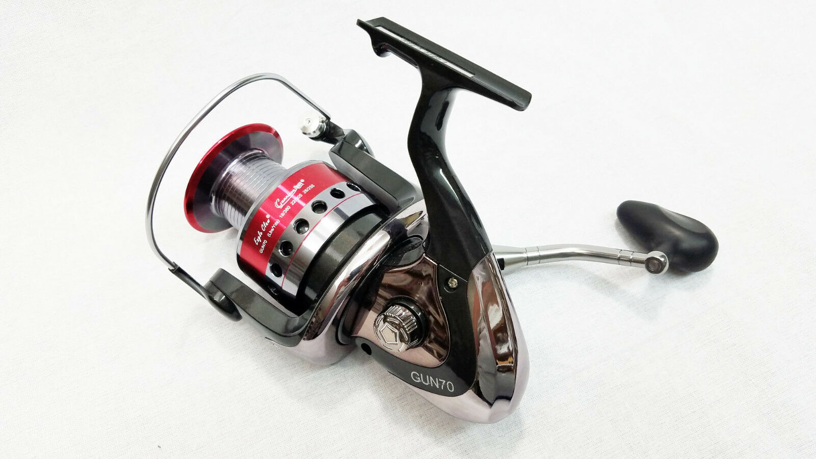 NEW MODEL EAGLE CLAW GUNNISON CATFISH SPINNING REEL GUN-70 8BB CRAPPIE POLE ROD)