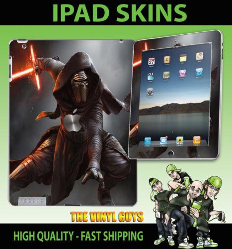 3g Apple IPAD 2 3 4g /& WIFI Adesivo Vinile kylo REN Star Wars Cavaliere Jedi Pelle
