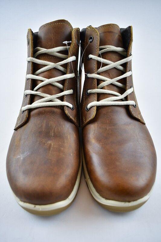 Stiefel Leder zum Schnüren in Dunkelbraun Wasserabweisend & Atmungsaktiv