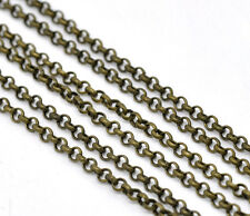 10m Gliederkette Kreuzkette Halskette Blogger rosegold Meterware 3,5x5mm DIY