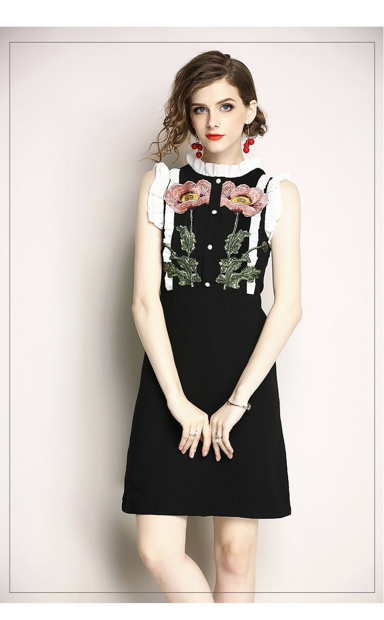 Bezaubernes Vintage Kleid Gr. XS 34. Neu.
