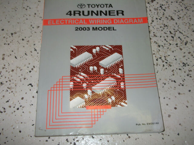 2003 Toyota 4runner Electrical Wiring Diagram Shop Manual