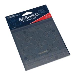 Sew Easy Sashiko Embroidery Template 4 x 4in Shippou (Seven Treasures ERS.004)