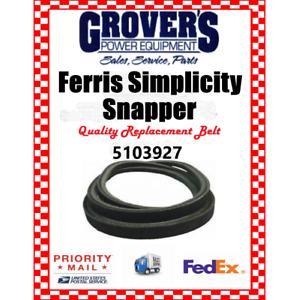 Details about FERRIS Belt Part # 5103927 - 5103748 Fits IS700 IS2100 52