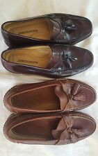 Johnston & Murphy LOT of 2 PAIRS Men's Shoes Size 8.5M Loafers Casual & Dress