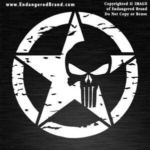 Punisher-Army-Style-Distressed-in-a-Circle-Waterproof-Vinyl-Sticker-Decals
