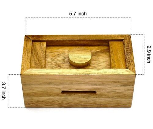 Cash Grab Wooden Puzzle Box With Secret Compartment Difficulty 8//10