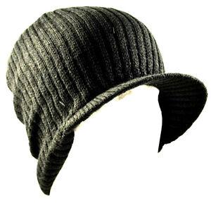Decky Black Solid Campus Jeep Cap Visor Beanie Ski Cap Caps Hat Hats ... 7746cadf8bc