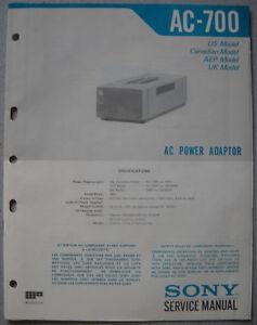 SONY-AC-700-Service-Manual