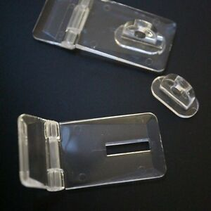 Tanks Very Strong 2 x Acrylic Hinged Hasp Staple Hasps Plastic 52mm Displays