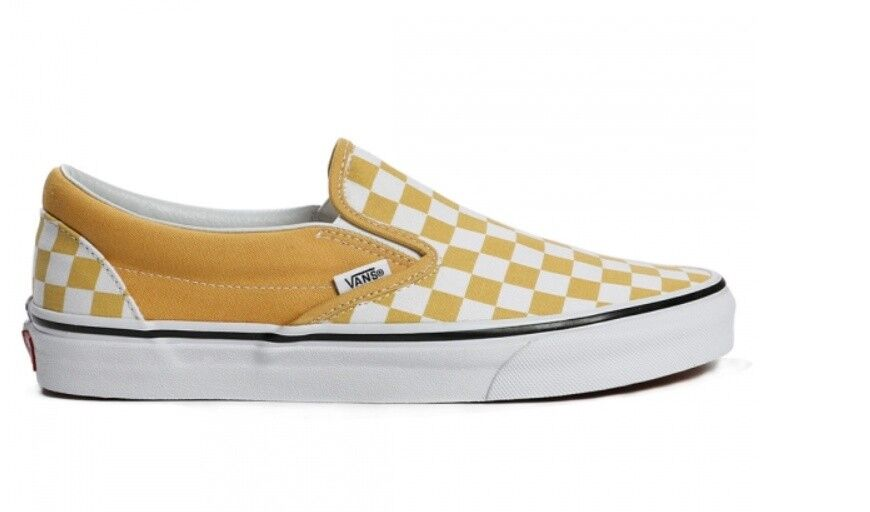 Vintage Vans Classic Slip On Zapatos VN0A38F7QCP1 Amarillo