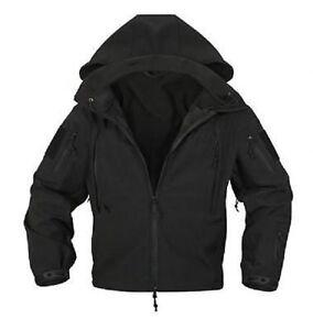 Le Meilleur Us Special Ops Softshell Swat Tactical Soft Shell Jacket Veste Black Noir-afficher Le Titre D'origine Bonne RéPutation Sur Le Monde