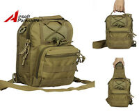 Outdoor Shoulder Tactical Molle Backpack Military Camping Hiking Travel Bag Tan