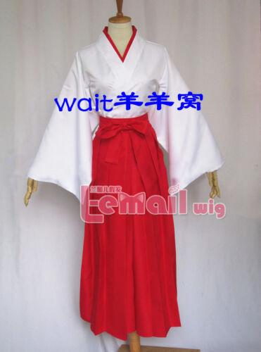 Love live Nozomi Tojo Miko Cosplay Costume Red//White Miko Clothing With Headband