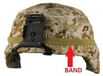 OD Green Military Reflective CATS EYE BAND MICH Helmet PAGST Helmet Rothco 9256