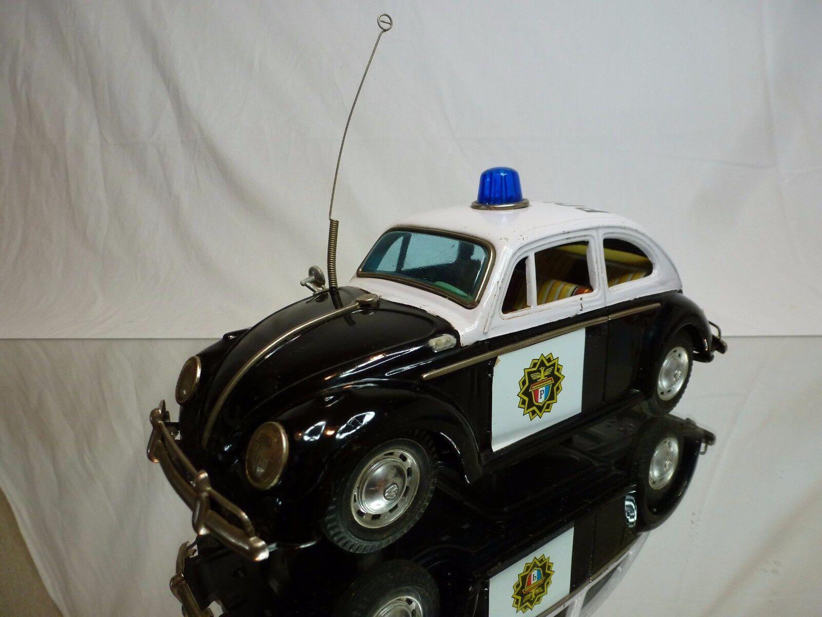 TIN TOYS MT MODERN TOYS JAPAN  VW VOLKSWAGEN BEETLE - POLICE  RARE - BATTERY