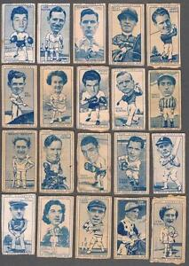 1949-Carreras-Turf-Cigarettes-Sports-Series-Tobacco-Cards-Lot-of-26