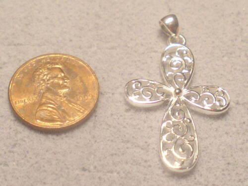 pour 1 Spécial UNQUE Cross Charme Pendentif Argent Sterling .925 #5 2