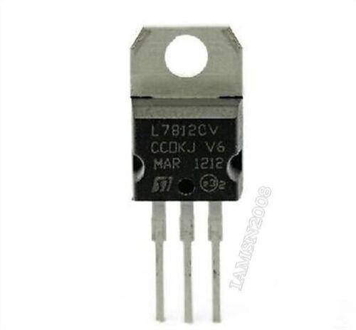 20 Stücke X 7812Cv L7812 KA7812 LM7812 Spannungsregler 12 V 1.5A BIS-220 uf