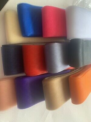 "New 4/"" Width x 1 Metre Lengths Crinoline Ideal For Hats,Fascinators All Colours"