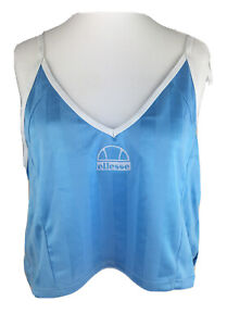 Light-Blue-Ellesse-Casual-Sport-Vest-Crop-Top-Adjustable-straps-UK-Size-14-BNWT