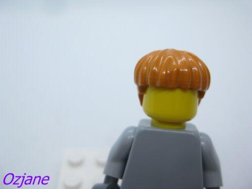 LEGO PART X219 EARTH ORANGE HAIR FOR MINI FIGURE