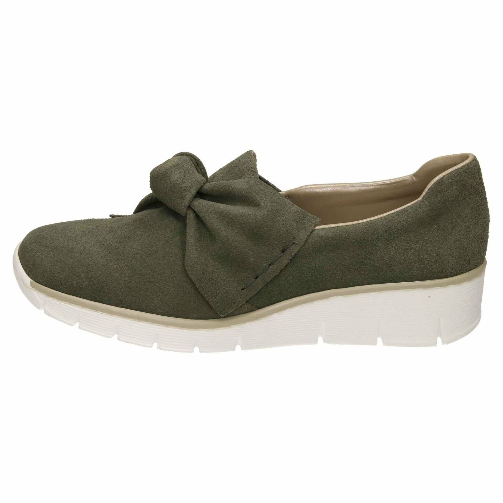 Rieker Suede Leather Loafer shoes 537Q4-54 Low Wedge Wedge Wedge Flat Slip On Pumps d1eafc