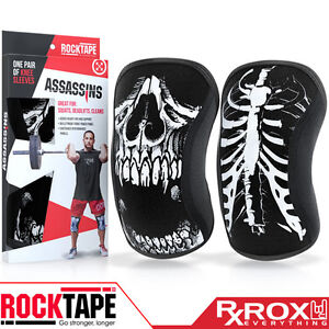 Rocktape-assassins-genou-soutien-manches-couple-5mm-crane-crossfit
