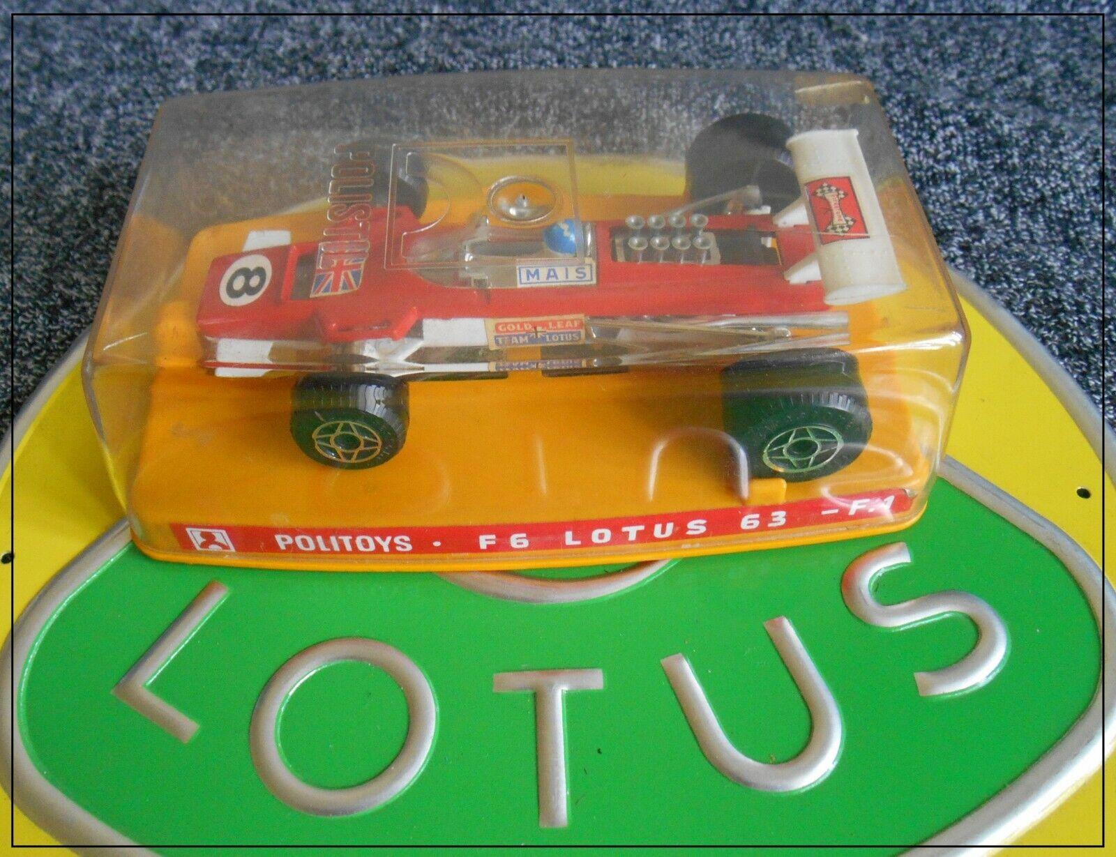 POLISTIL F6 Lotus 63 F1 Formule 1 1 32 or LEAF TEAM LOTUS ANDRETTI