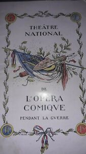 Programme-du-Theatre-National-de-l-039-opera-Comique-pendant-la-Guerre-1918