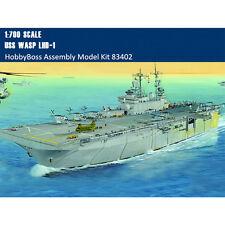 HobbyBoss 83402 1/700 USS Wasp LHD-1 Amphibious Assault Ship Assembly Model Kit