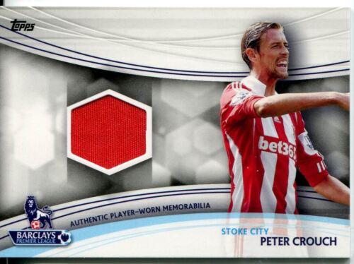 Topps Premier Gold tarjeta de fútbol 13//14 reliquia Peter Crouch rojo