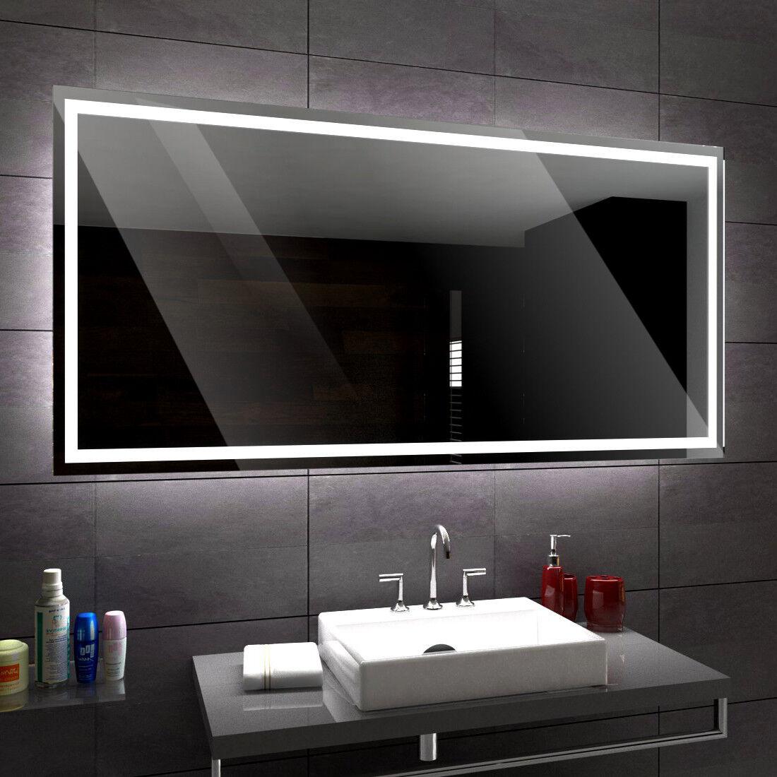ATLANTA éclairé del Miroir salle de Bain Led personnalisé taille versions mesure
