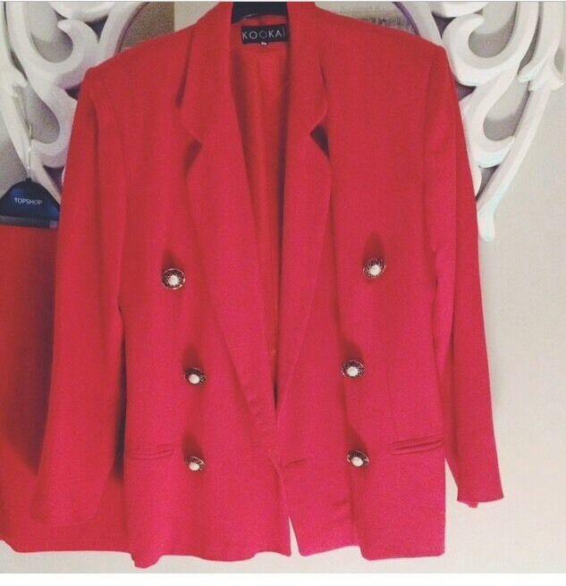 80's Vintage Kookai Red Suit