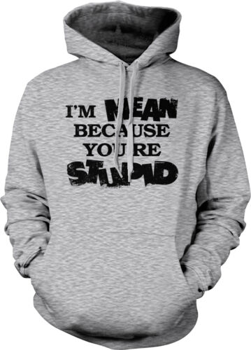 I/'m Rude Because You/'re Stupid Rude Offensive Funny Humor Joke Hoodie Pullover