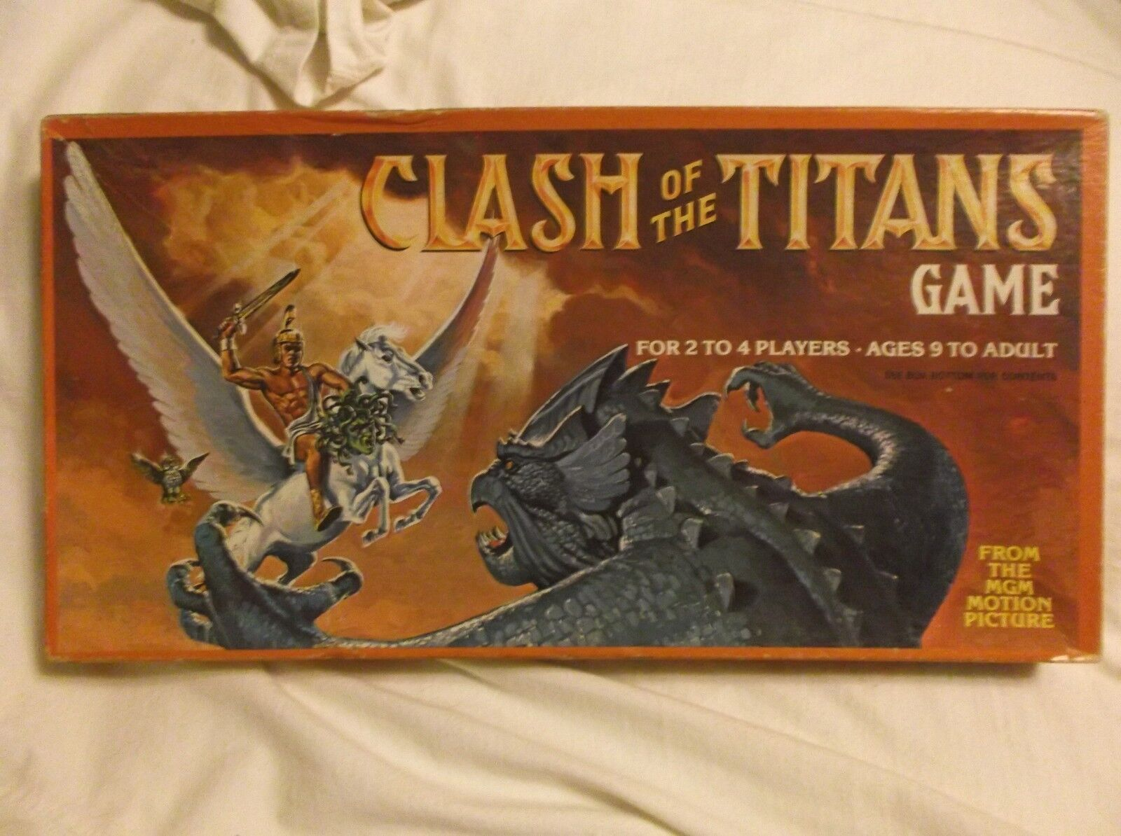VINTAGE CLASH OF THE TITANS BOARD  GAME 1981 MADE IN USA PRE-OWNED RARE