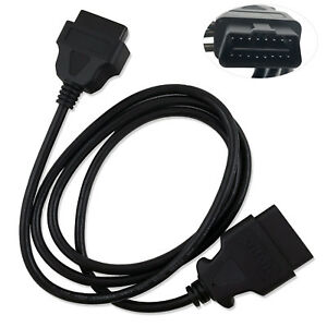 New 16 Pin Male to Female OBDII OBD2 Extension Cable Auto Diagnostic Extender