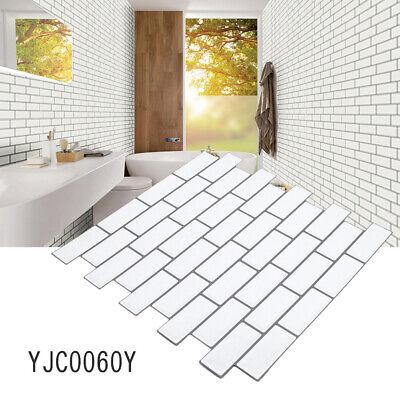 3d Self Adhesive Mosaic Wall Tile Sticker White Subway
