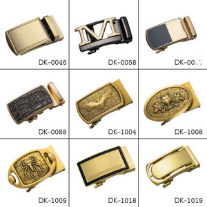 Designer-Gold-Mens-Belt-Buckles-Automatic-Ratchet-Buckles-for-1-3-034-to-1-4-034-Belts