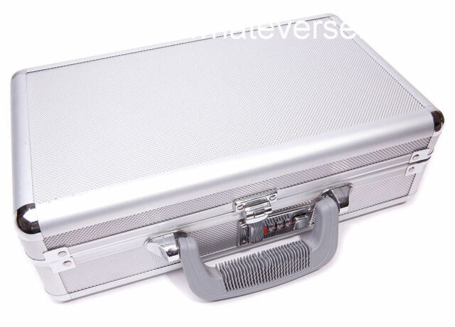 COMBINATION LOCKABLE ALUMINIUM HARD DOUBLE PISTOL CASE box