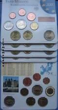Deutschland Off. Euro KMS 2007 BU 1 Cent-2€ Schwerin+2 € Roma 5x Blister ADFGJ